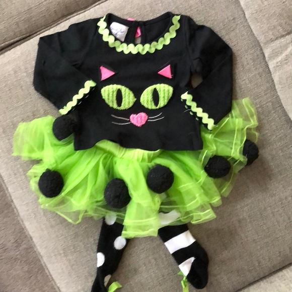 Mud Pie Halloween Baby Cat Tutu Set